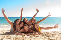 Friends in Summer time Royalty Free Stock Images