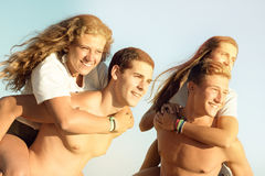 Friends in Summer time Stock Image