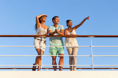 Friends sunset cruise Royalty Free Stock Photography
