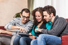 Friends with Tablet PC Royalty Free Stock Photos