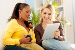 Friends With Tablet Royalty Free Stock Image