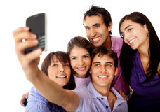 Friends taking a photo Stock Photo