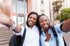 Friends taking self portrait Royalty Free Stock Images