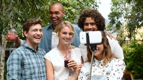 Friends taking a selfie stock footage