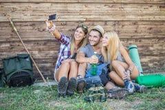 Friends taking selfie stock photo