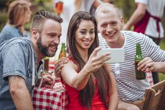Friends taking selfie stock photos