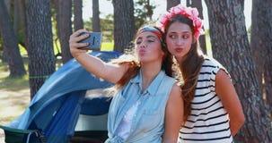 Friends taking a selfie 4k. Happy friends taking a selfie 4k stock video