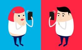 Friends taking selfie. Taking selfie photo on smartphone Royalty Free Stock Photo