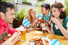 Friends talking and flirting Royalty Free Stock Photo