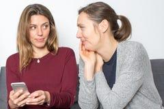 Friends talking gossip Stock Photos