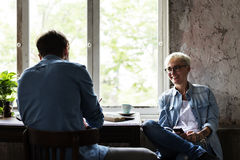 Friends Talking Together Leisure Break Time Stock Images