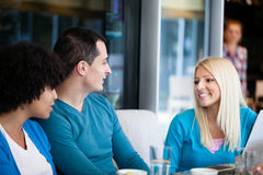 Friends talking Royalty Free Stock Image