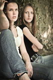 Friends (teenage girls) in conflict Stock Photography