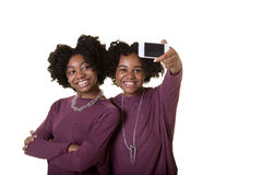 Friends or teens taking a photo Royalty Free Stock Photos