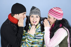 Friends telling secrets Royalty Free Stock Photos