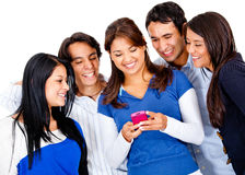 Friends text messaging Royalty Free Stock Photography