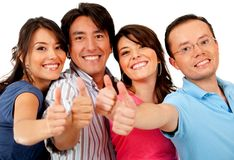 Friends with thumbs up Royalty Free Stock Photo