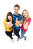 Friends with thumbs up Royalty Free Stock Photography