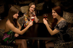 Friends toasting Stock Images