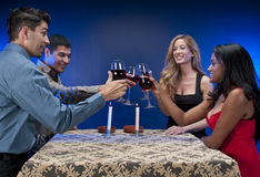 Friends Toasting Stock Photos