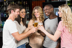 Friends toasting with beer Royalty Free Stock Image
