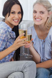 Friends toasting with champagne Stock Photography