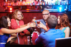 Friends toasting Royalty Free Stock Photo