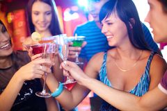Friends toasting Royalty Free Stock Images