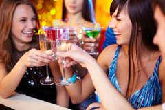 Friends toasting Royalty Free Stock Image