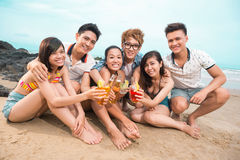 Friend�s toasting Stock Photography