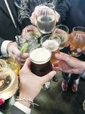 Friends toasting saying cheers Stock Photography