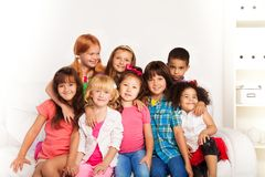 Friends together at home Royalty Free Stock Images