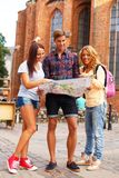 Friends tourists Stock Photos