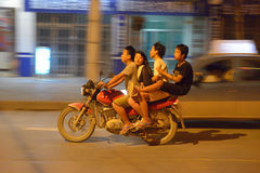 Friends traveling in Rongjiang Stock Photo