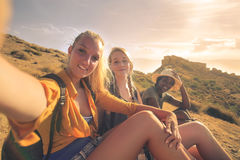 Friends on a trip Royalty Free Stock Photo