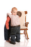 Friends two little boys stock images