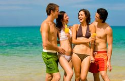 Friends On Vacation Stock Photos