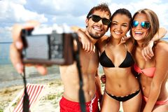 Friends on vacation Royalty Free Stock Photos