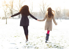 Friends walking Royalty Free Stock Photography