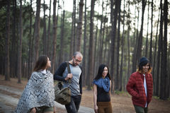 Friends Walking Exploring Outdoors Concept Stock Photo