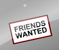 Friends wanted concept. Royalty Free Stock Photography