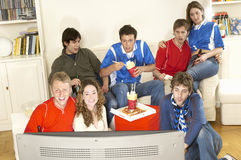 Friends Watching Football Match Royalty Free Stock Photo
