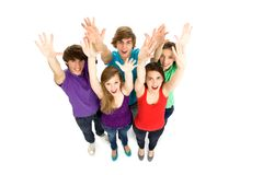 Friends waving hands Royalty Free Stock Photos