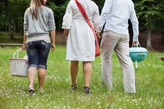 Friends On a Weekend Picnic Stock Photos