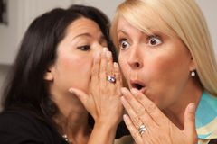 Friends Whispering Secrets Royalty Free Stock Photo
