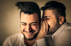 Friends whispering secrets Royalty Free Stock Photography