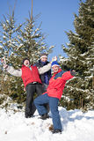 Friends on a winter Stock Images