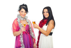 Friends women at party royalty free stock photo