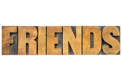 Friends word typography Stock Images