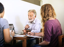 Friends Working Discussion Meeting Sharing Ideas Concept Royalty Free Stock Image